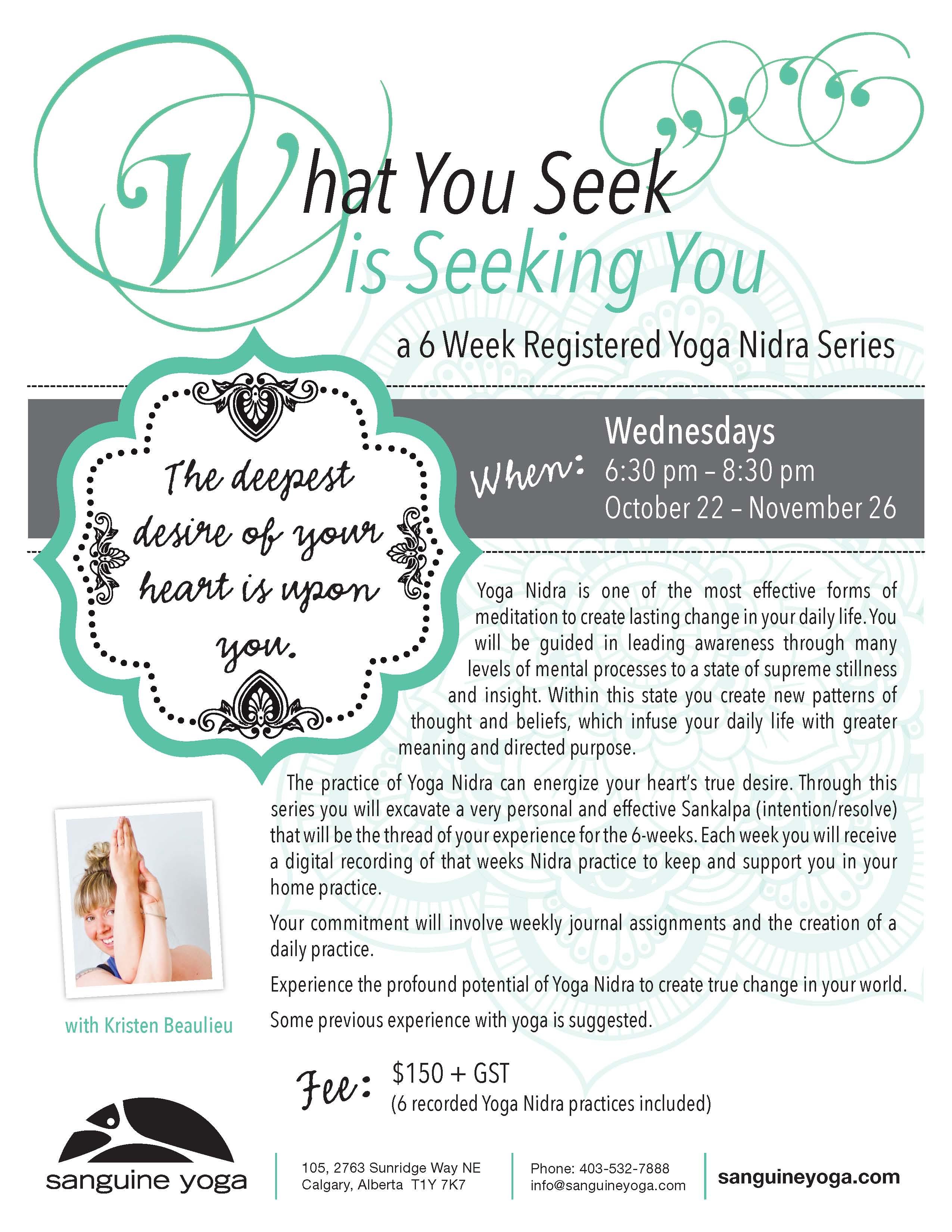 Upcoming Yoga Nidra Classes Workshops And Trainings