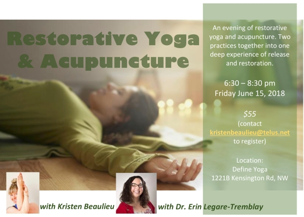 Restorative and Acupuncture Extended Yoga Practice - June 2018 - Final