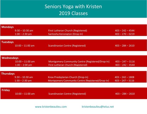 seniors yoga 2019 classes